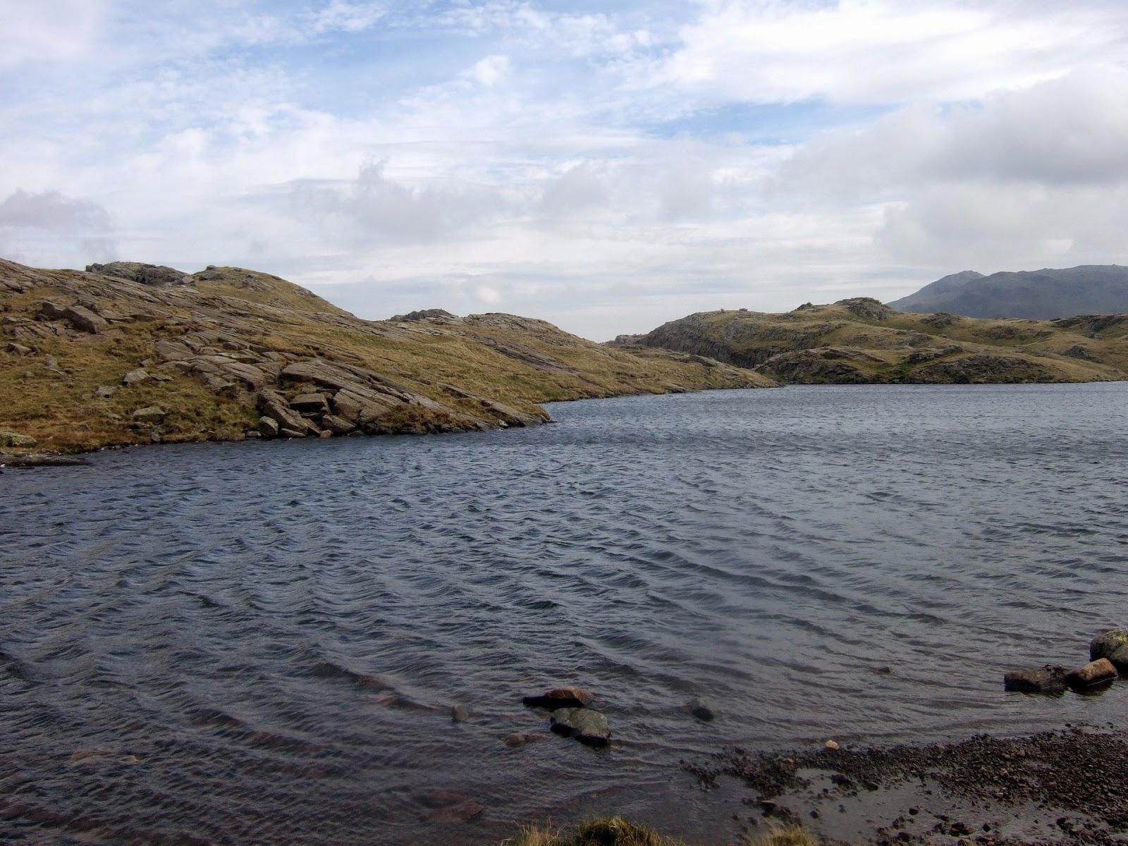 sprinkling tarn on seathwaite fell