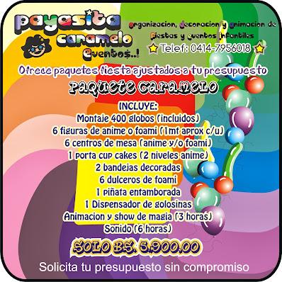 PAQUETE DECORACION/ANIMACION/SONIDO