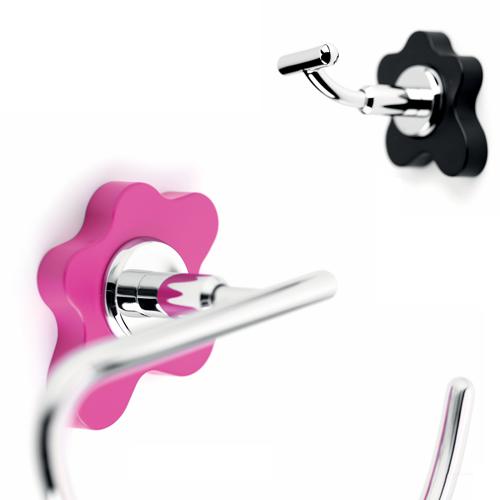 accesorio baño rosa negro