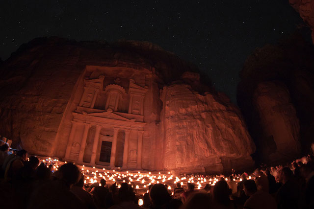 Fin de ao en Petra, Jordania