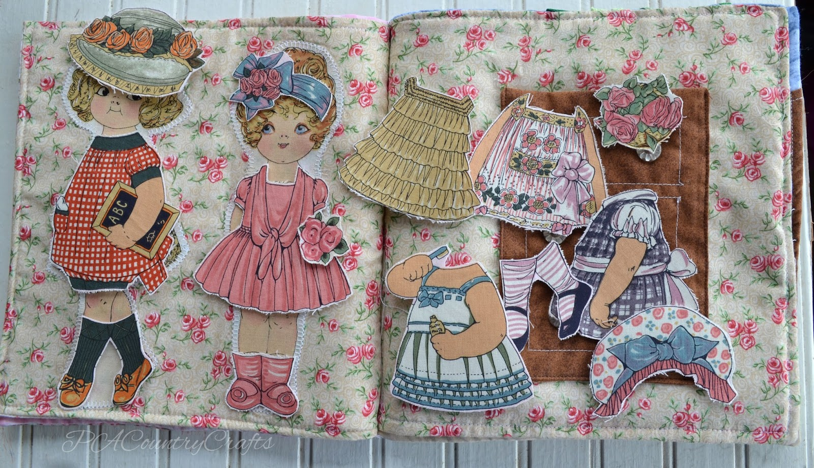 Fabric Paper Dolls Quiet Book Page