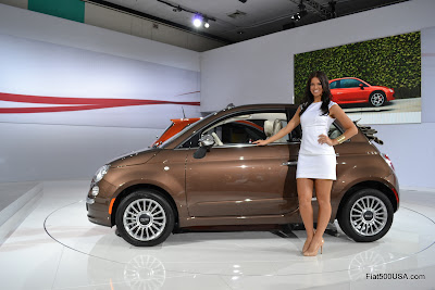 Fiat 500c with Fiat Brand Ambassador Megan Agrusa