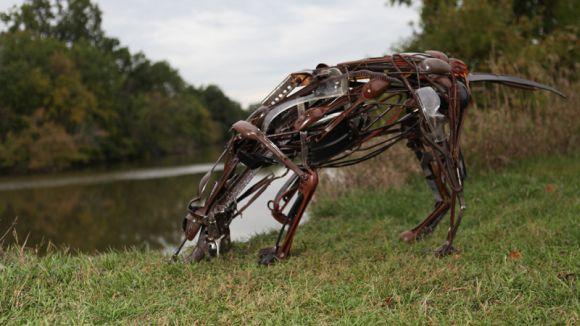 sayaka ganz esculturas animais ferro velho