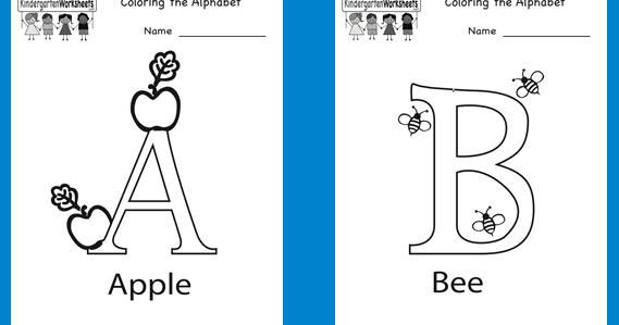 Mewarnai Abjad Untuk Anak Paud Tk Lembar Kerja