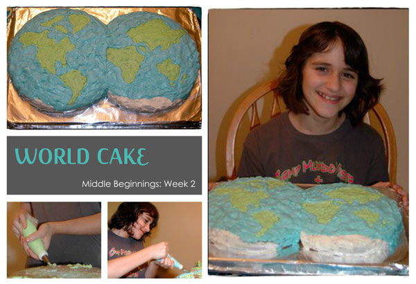 Middle Beginnings: Week 2 World Cake