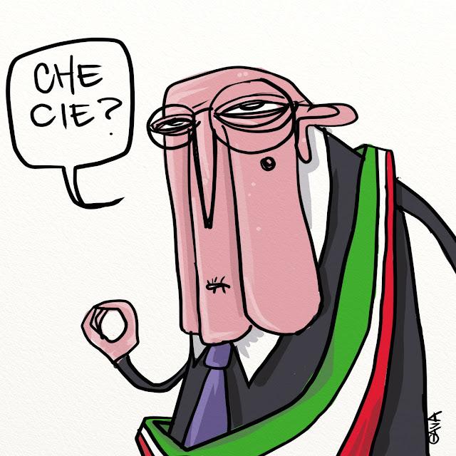 gavavenezia gava satira vignette illustrazone ridere caricatura marco gavagnin napolitano cie papa