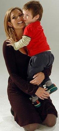 Daniela Sarfaty y su hijo