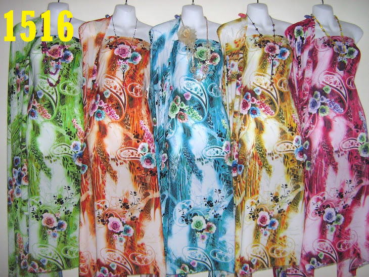 CISD 1516: CHIFFON ITALIAN SILK DIGITAL PRINTED, 4 METER, 5 COLORS