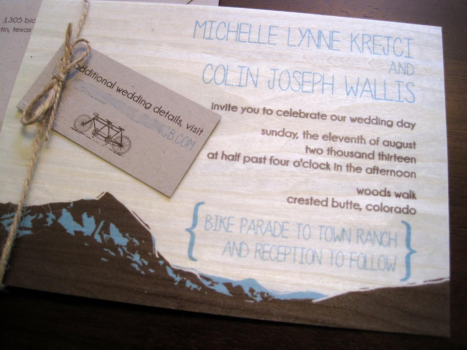 the inviting pear photoblog mountain wedding invitations on wood