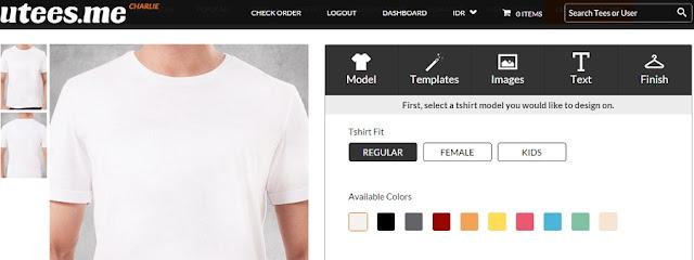 Laman Desain Tshirt Online Uteesme