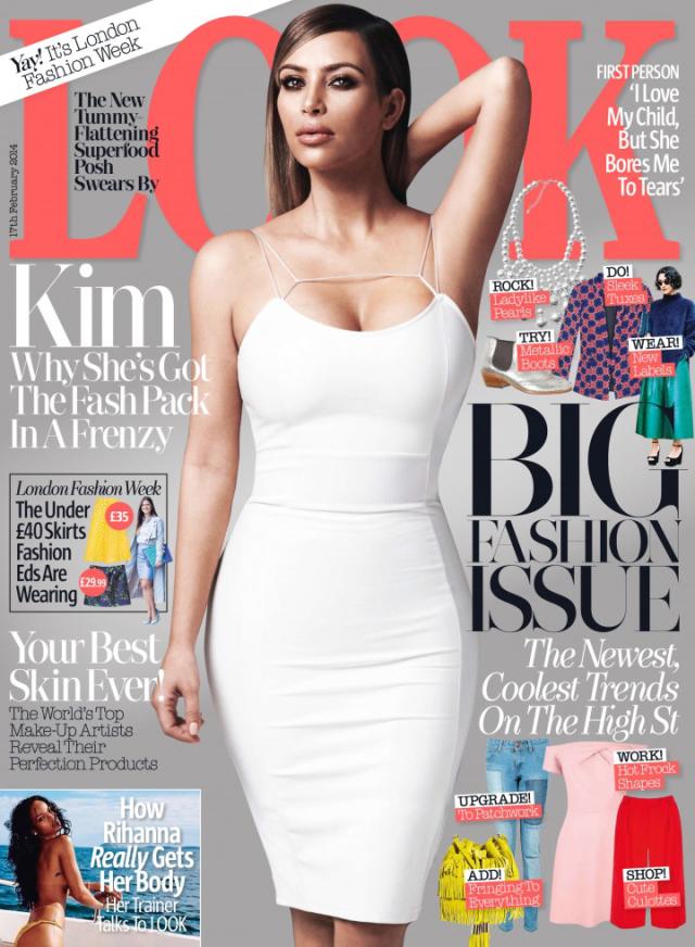 Kim Kardashian en portada de Look Magazine de febrero 2014