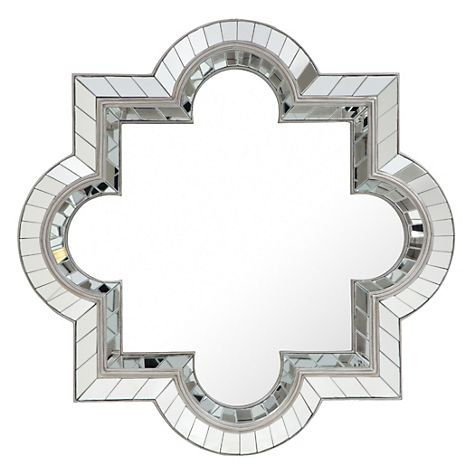 Copy cat chic horchow quatrefoil mirror for Mirror z gallerie