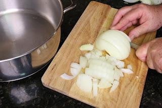 Troceando cebolla