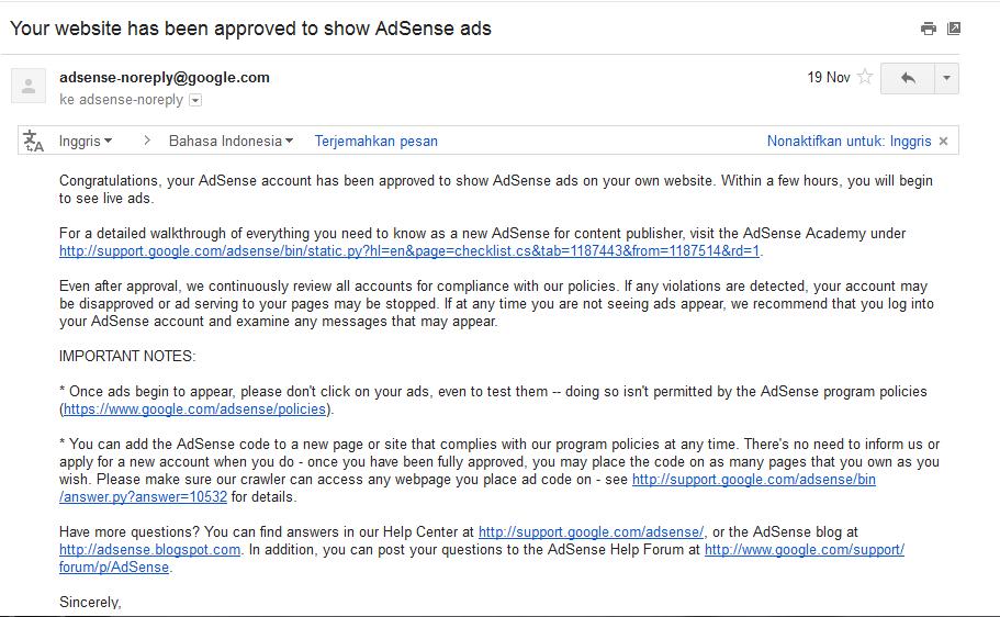 cara daftar adsense dengan youtube full approve