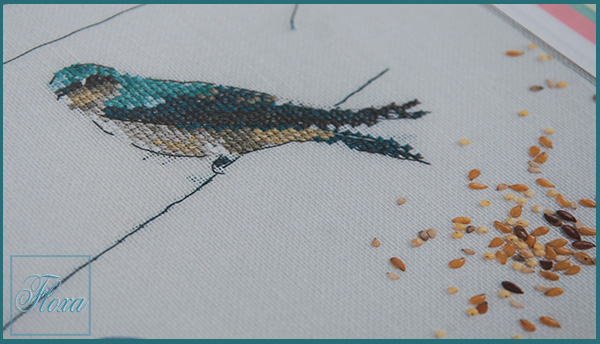 вышивка ласточка