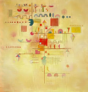 Gentle Ascent 1934 - Wassily Kandinsky painting