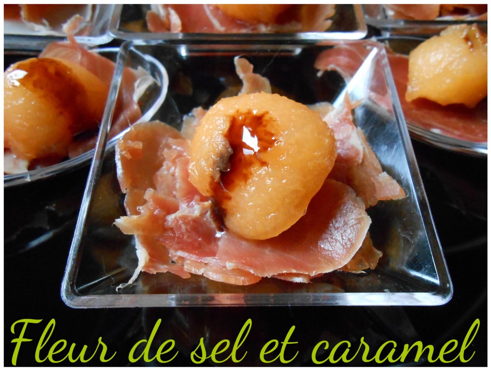 Fleur de sel et Caramel: Amuses bouche melon, serrano au velours ...