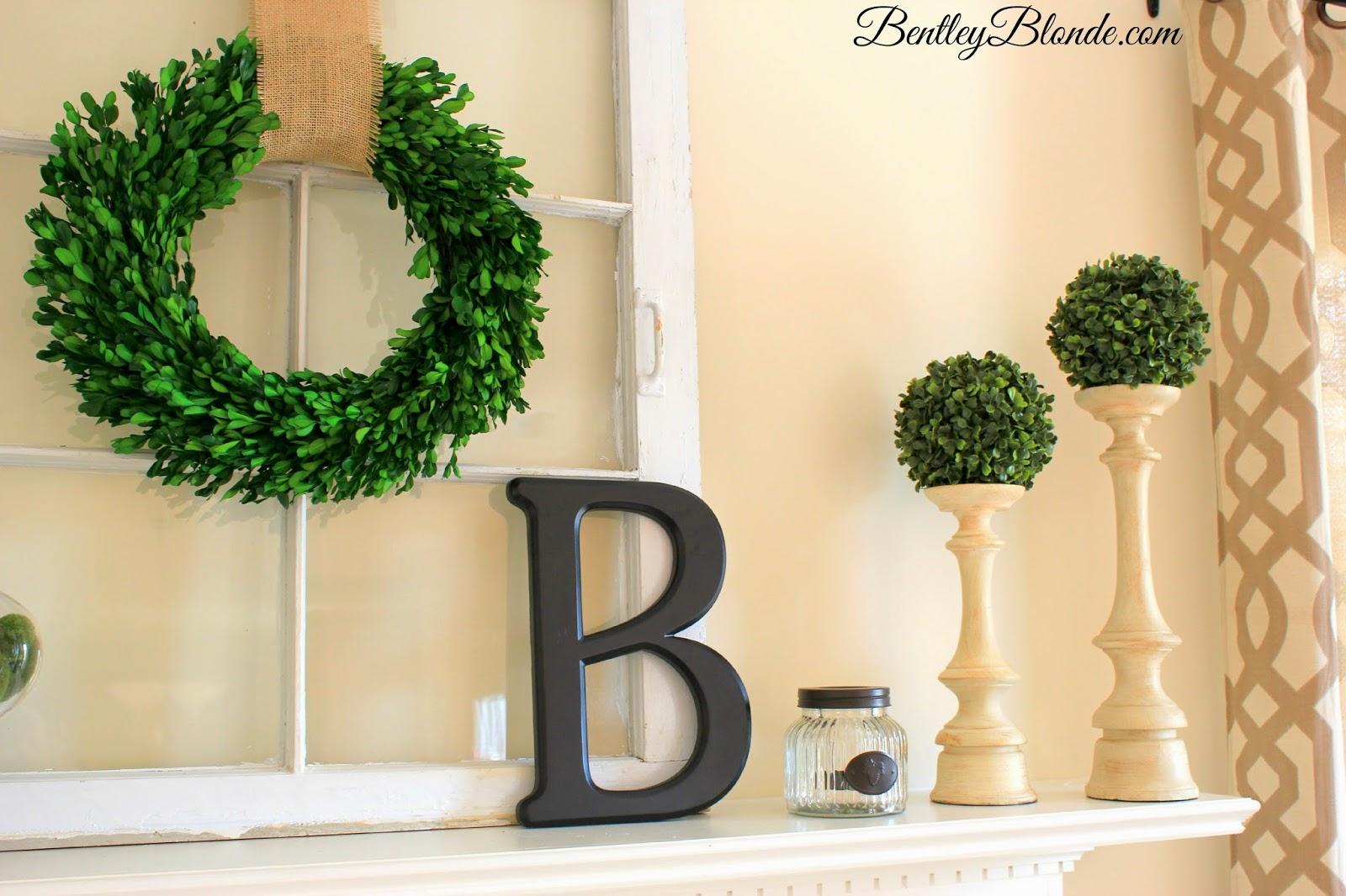 BentleyBlonde Spring Mantle Decorations Kirklands Gatehill Curtains