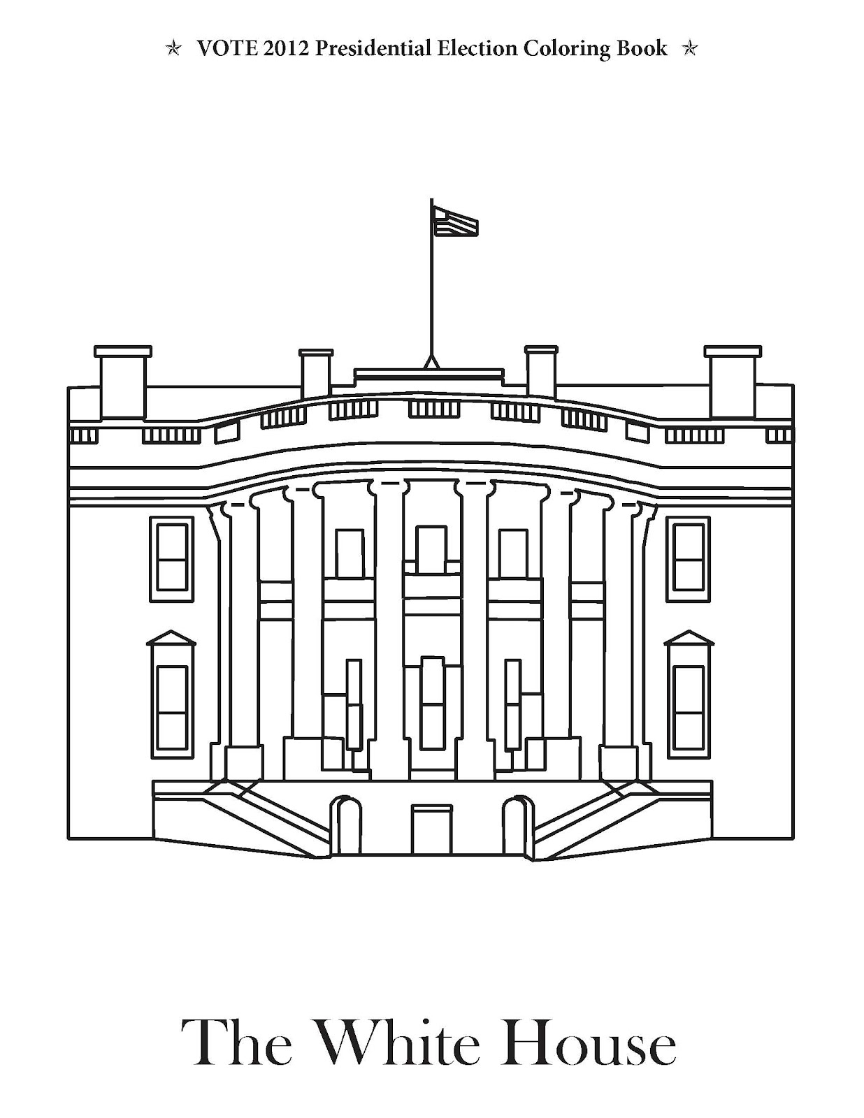 washington dc coloring pages printable - vote 2012 presidential election coloring book