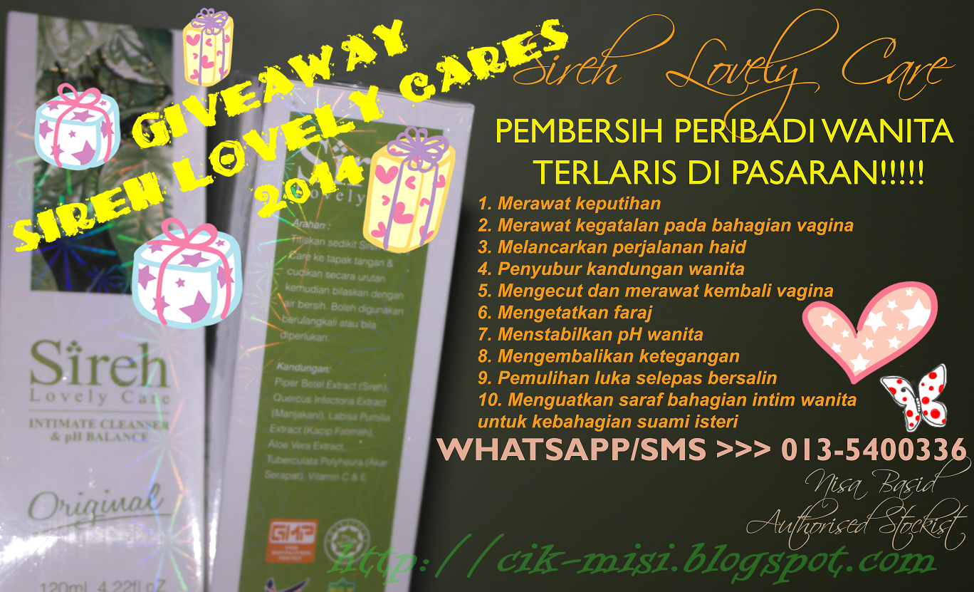 GIVEAWAY SIREH LOVELY CARES 2014