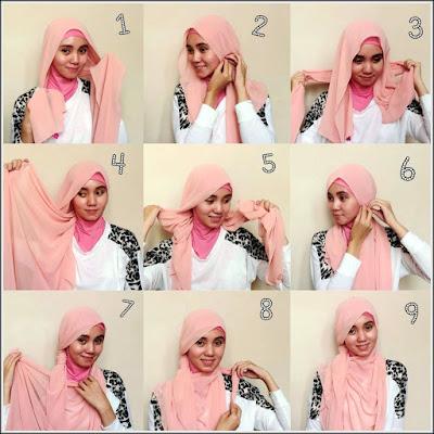jilbab untuk wajah bulat