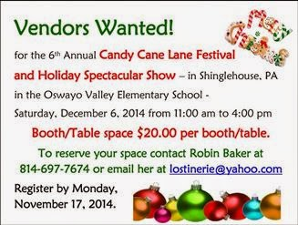 11-7 Vendors Wanted Candy Cane Lane