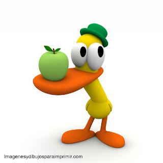 pato con fruta pato de pocoyo para imprimir