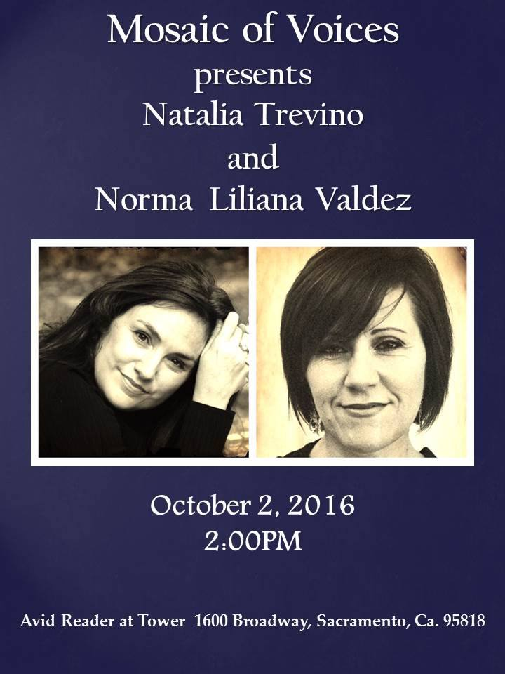 TREVINO & VALDEZ at Avid Reader in Sac. Sun. (10/2)