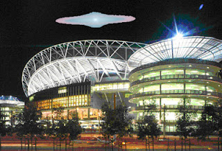 UFO over stadium