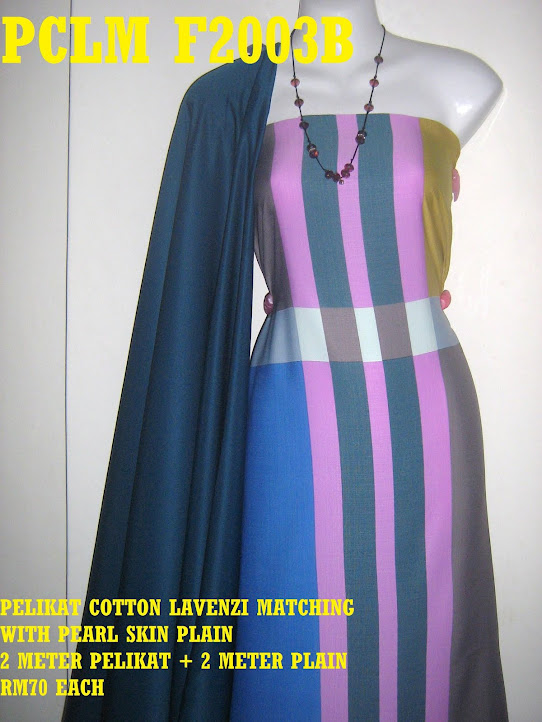 PCLM F2003B: PELIKAT COTTON LAVENZI MATHING WITH PEARL SKIN PLAIN