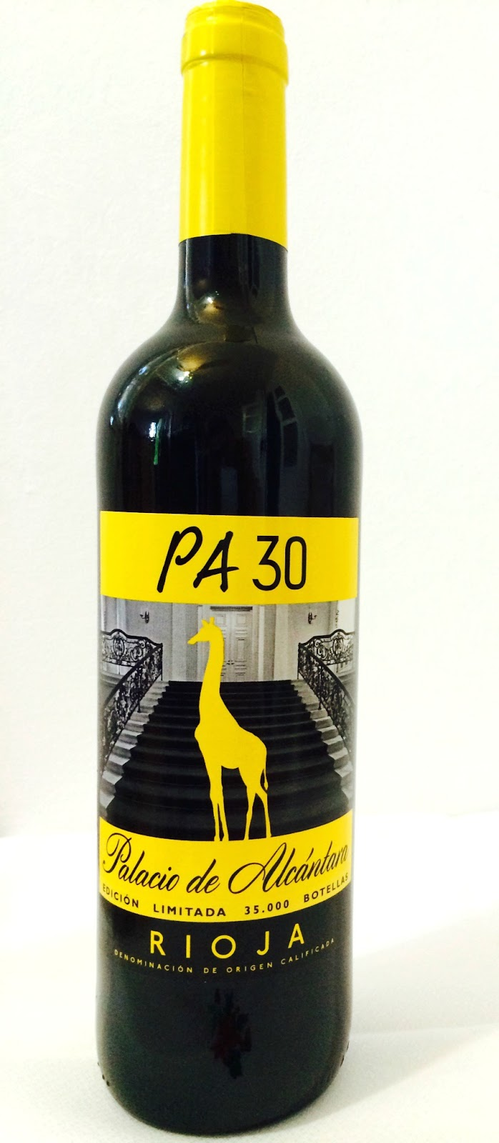 vino tinto Rioja Palacio de Alcantara PA30