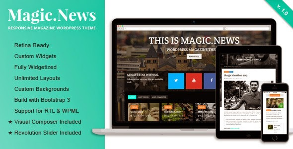 free Responsive WordPress Magazine Theme