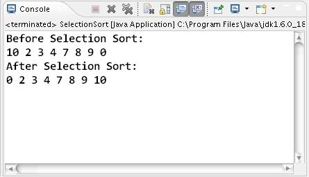 selection sort algorithm in c language