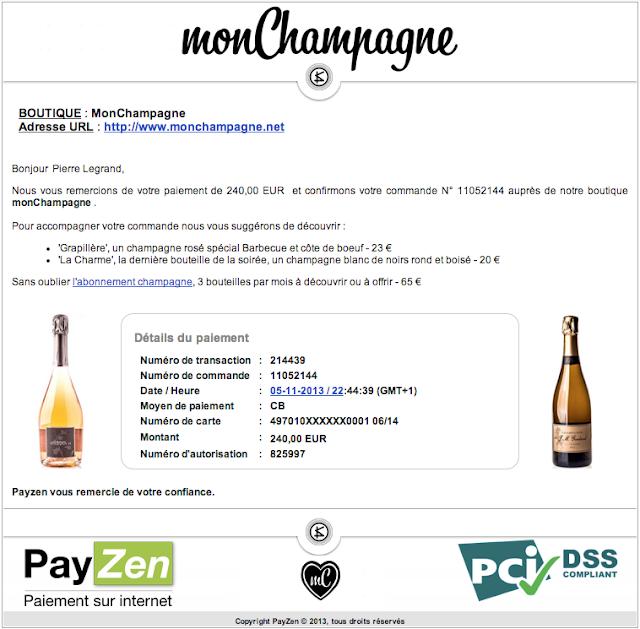 ticket de paiement Payzen personnalisé