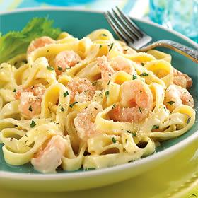 Shrimp Fettuccine Alfredo is a popular menu item in many restaurants ...