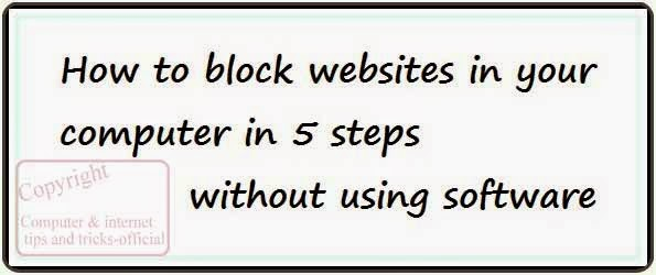how to block websites in your computer