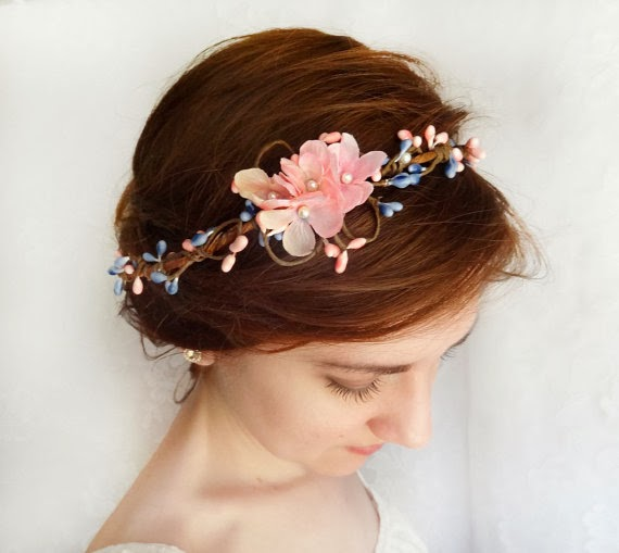 pink woodland headpiece