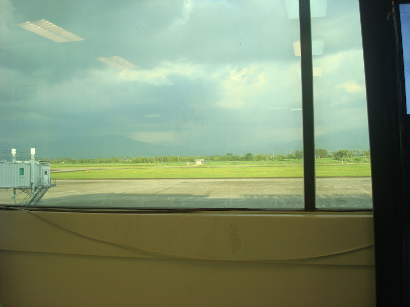 view from the departure area Bacolod-Silay airport