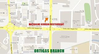 Map to Matgalne Korean Restaurant Ortigas
