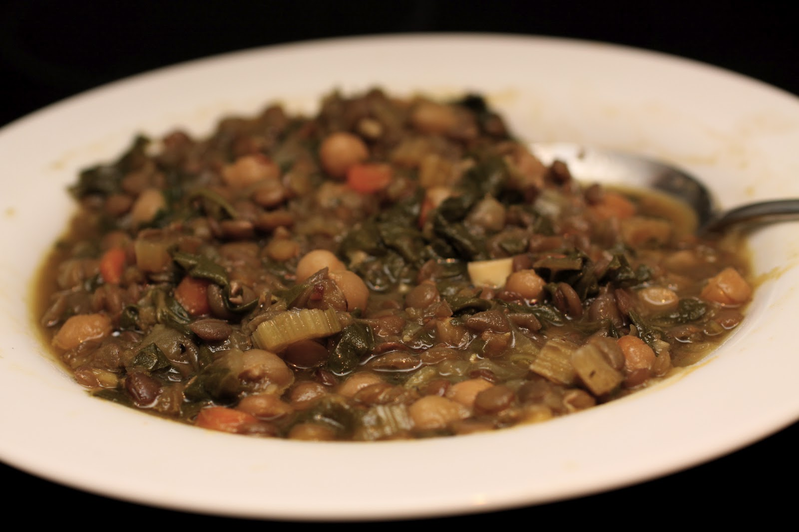 used 1 cup of dry lentils, rinsed, and simmered with onions, garlic ...