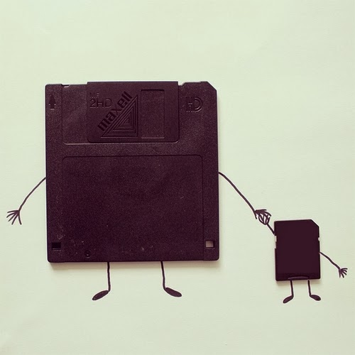 08-Floppy-Disks-Illustrator-Javier-Pérez-aka-cintascotch-Design-in-Real-World