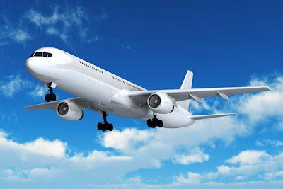 Avión de pasajeros en el cielo azul - avion-de-pasajeros-en-el-cielo-azul - Passenger airliner flight in the blue sky