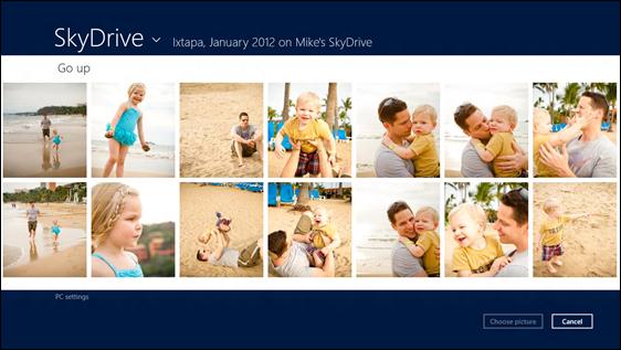 Microsoft's Skydrive Metro app for Windows 8