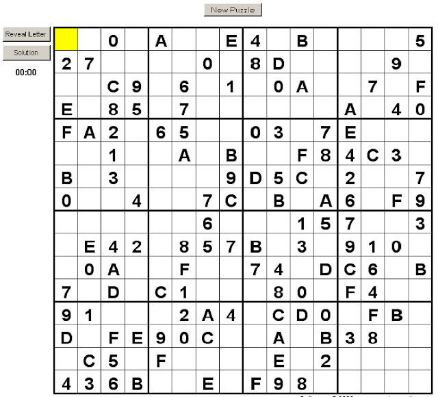 super sudoku 16x16 numbers letters