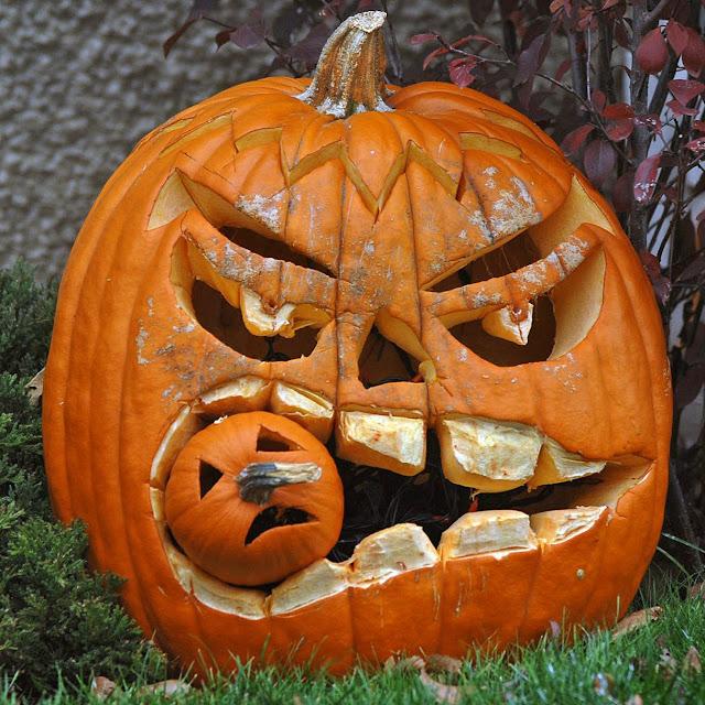 Halloween pumpkin snack