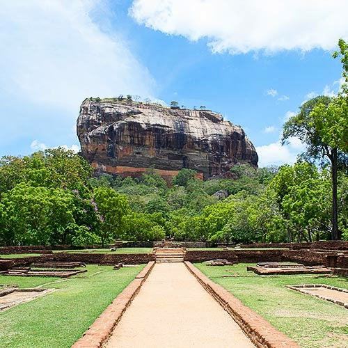 Sigiriya viewed from Western Entrance