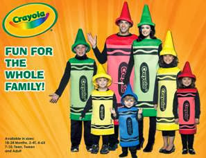 Halloween Costumes for the Whole Family from Crayola