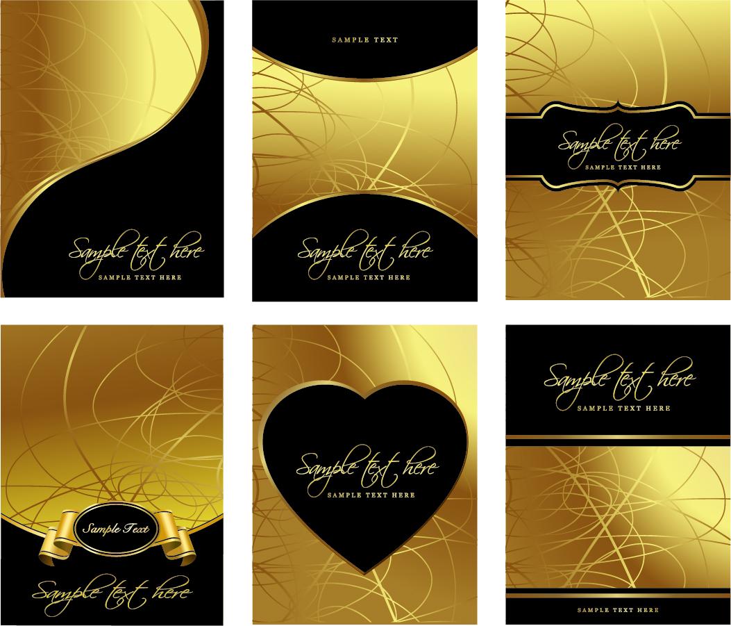 金色の豪華なレイアウト見本 european gorgeous layout design イラスト素材