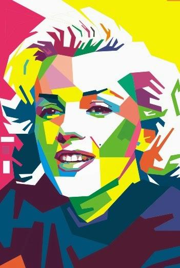 WPAP Marilyn Monroe, Tutorial Singkat dengan CoelDraw X4 - #tukangketik