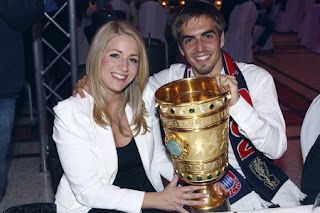 Philipp Lahm Wife Claudia 2013